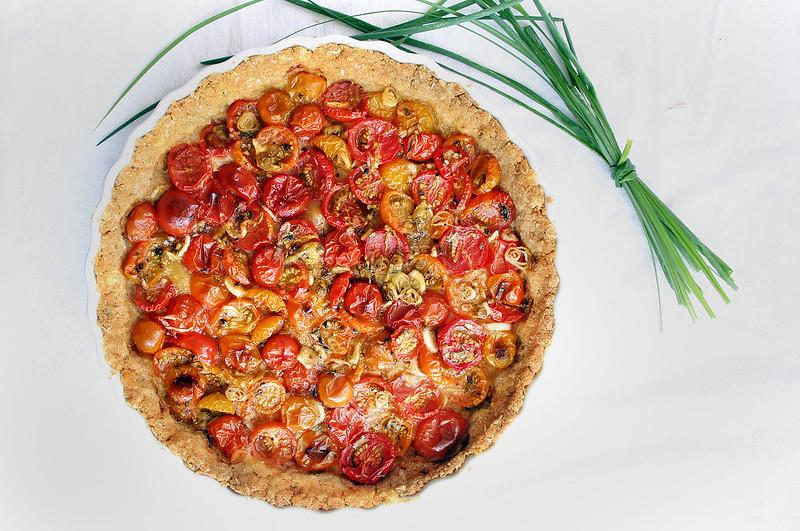 Tomato and Scallion Tart