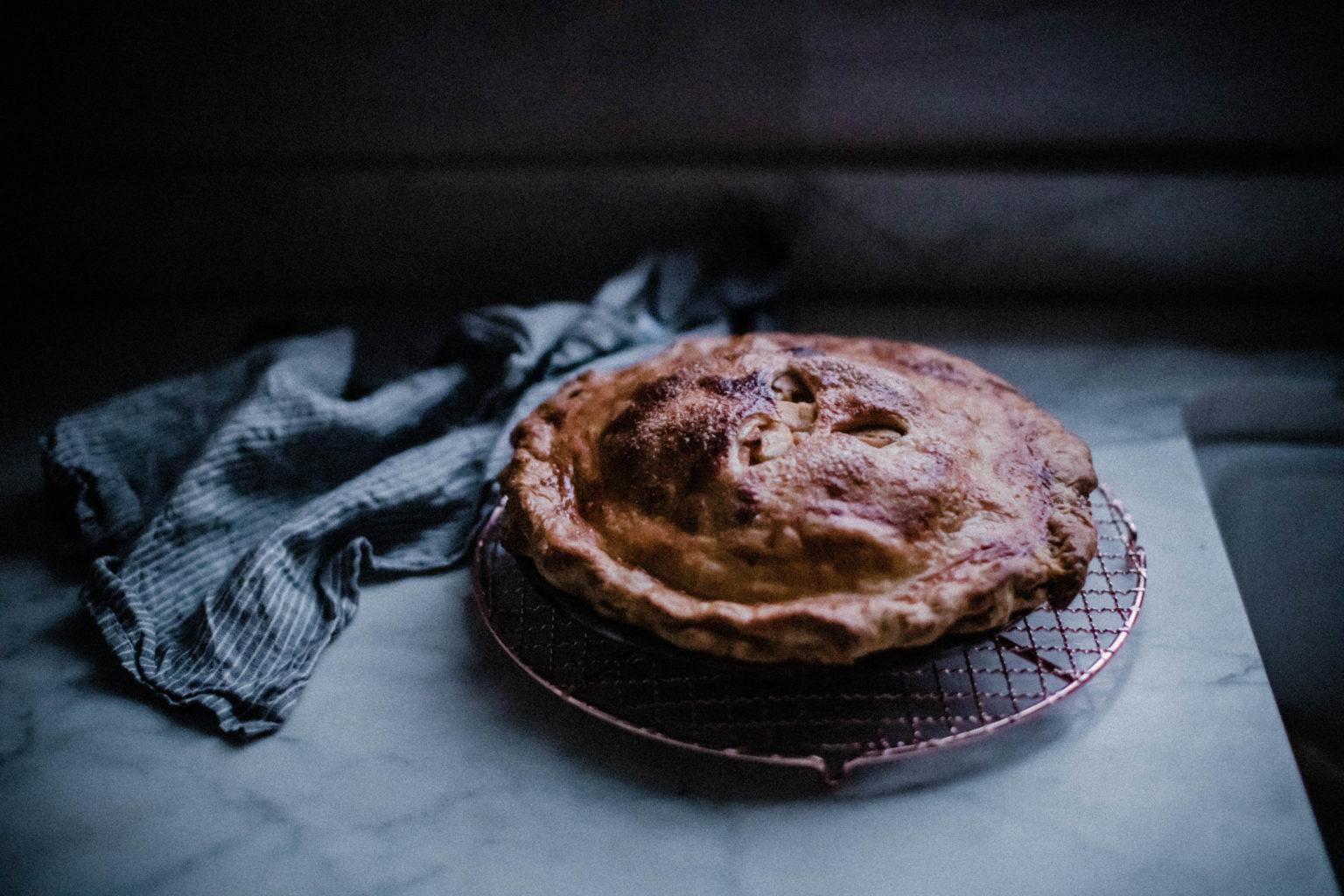 Brown Butter Caramel Apple Pie
