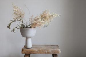 foraged arrangement ceramic vase