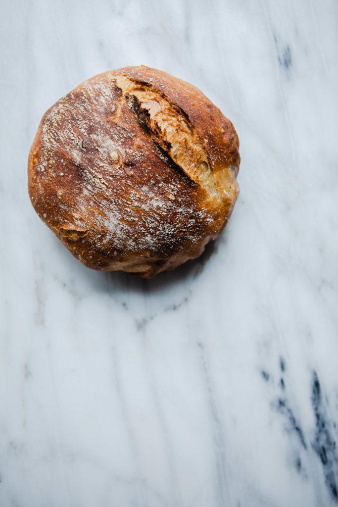 homemade no-knead loaf