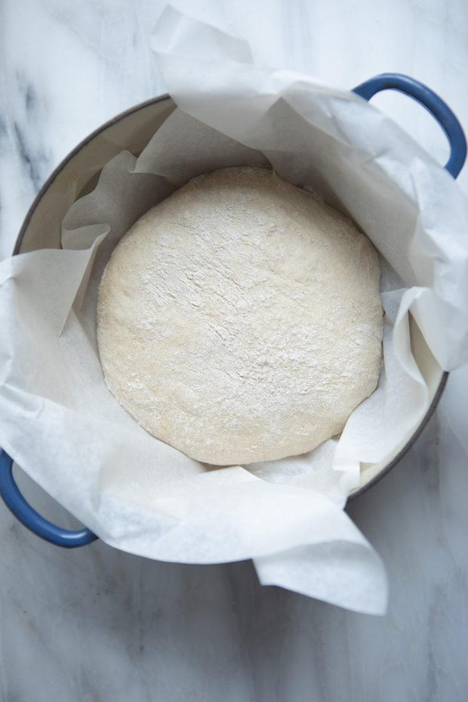bread baking rise